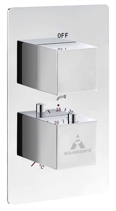 Complementos y accesorios   Distribuidores empotrados de ducha      DENIA 2 VíAS